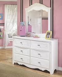 6 Drawer Dressers White with Mirror