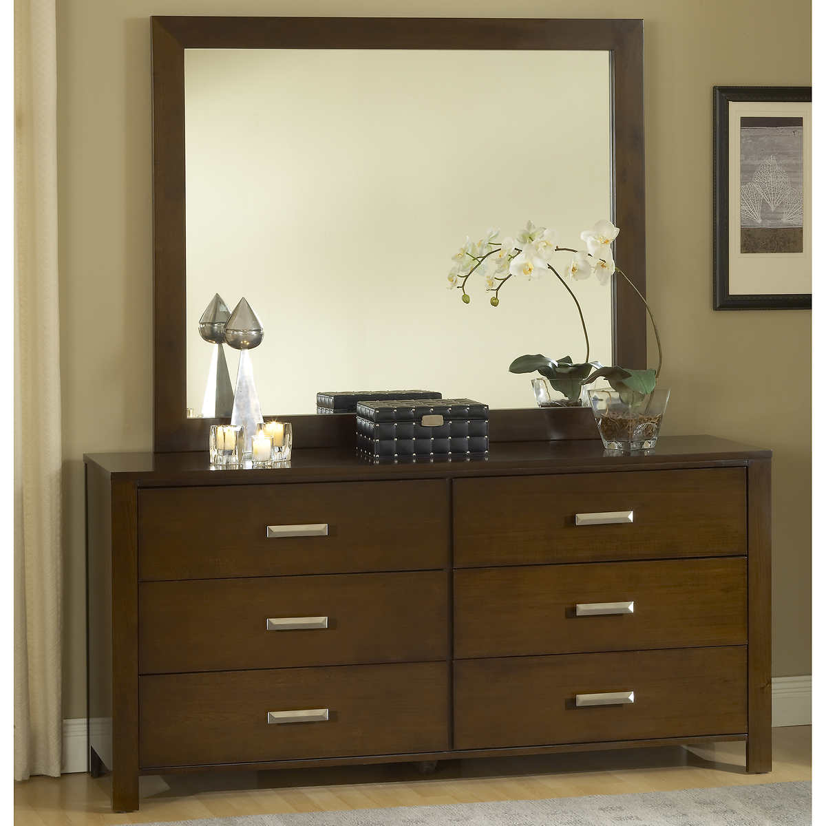 Picture of: 6 Drawer Dressers with Mirror Service