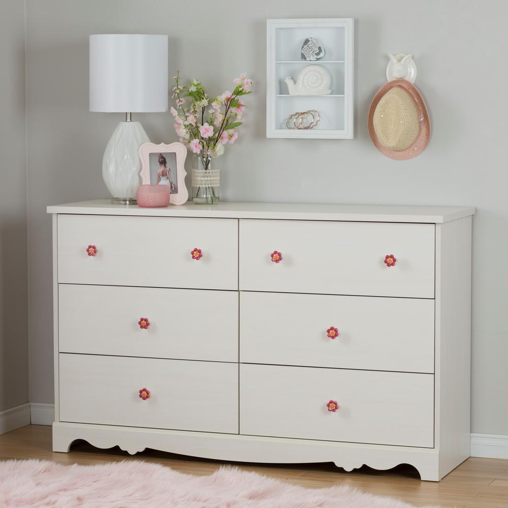 Picture of: 6 Drawer Nice Dresser White