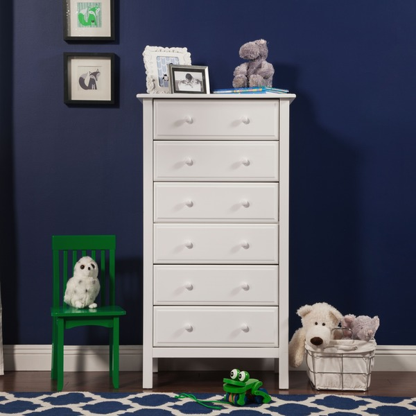Picture of: 6 Drawer Tall Clean Dresser