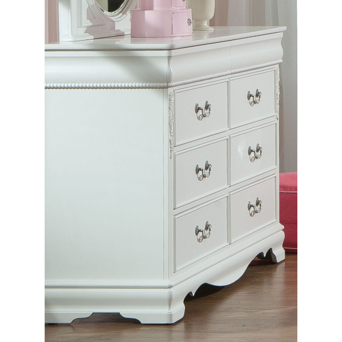 Picture of: 6 Drawer Tall Dresser White