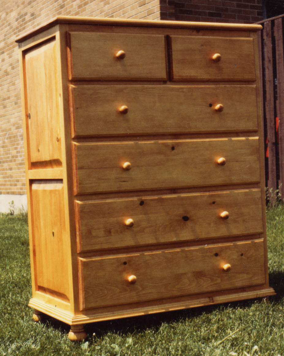 Picture of: 6 Drawer Tall Oak Dresser