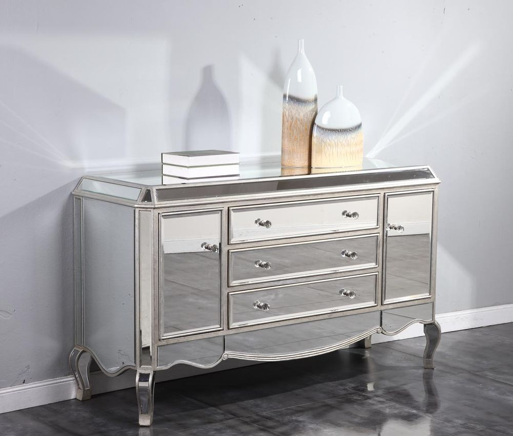Picture of: 84 Inch Wide Dresser Silver