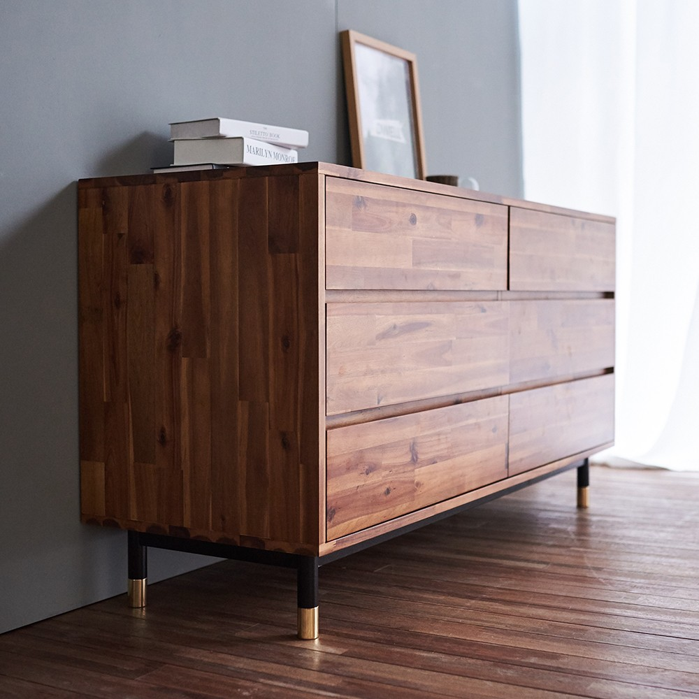 Picture of: Acacia Wood Dresser Chest