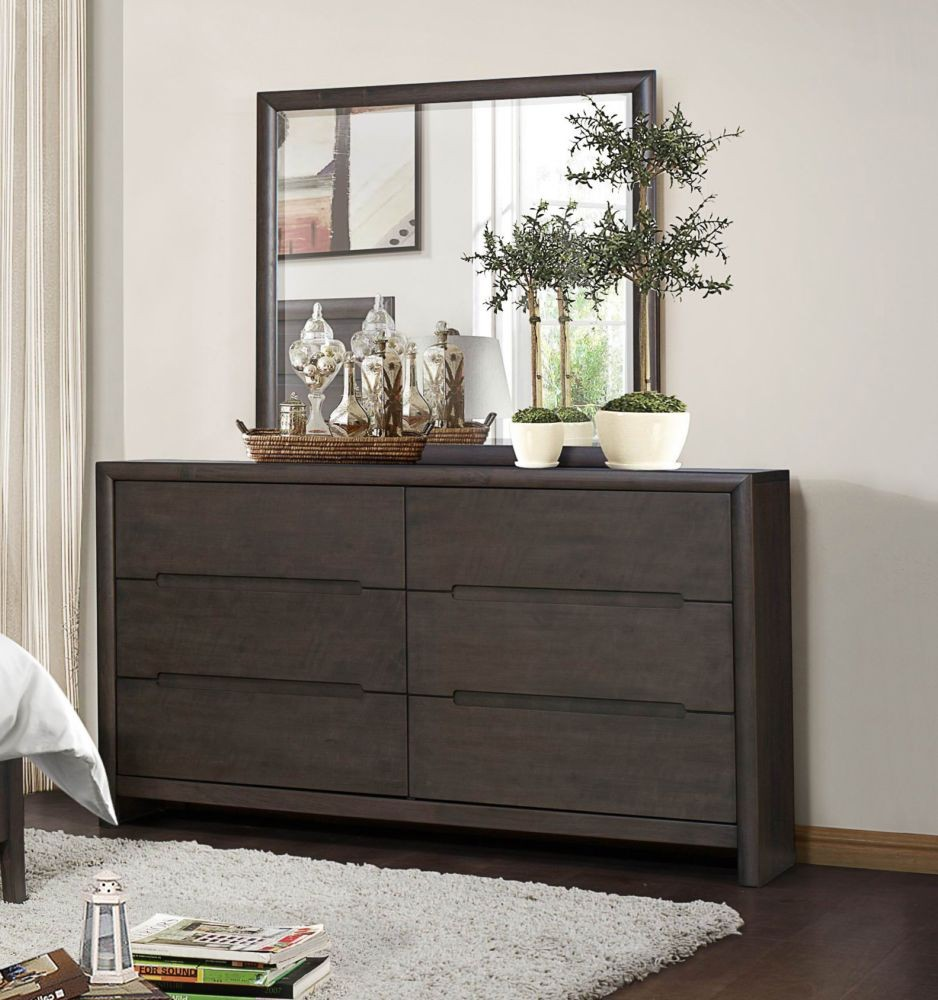 Antique Dark Gray Dresser Bedroom Furniture