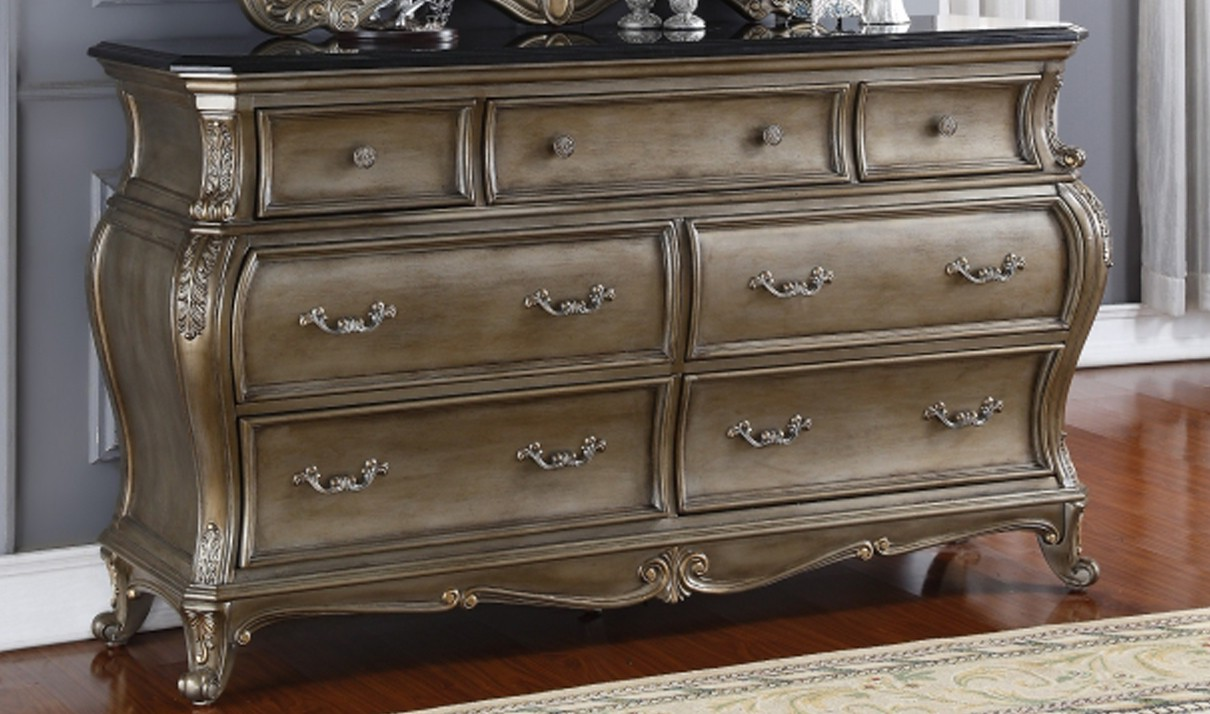 Image of: Antique Silver Dresser And Nightstand
