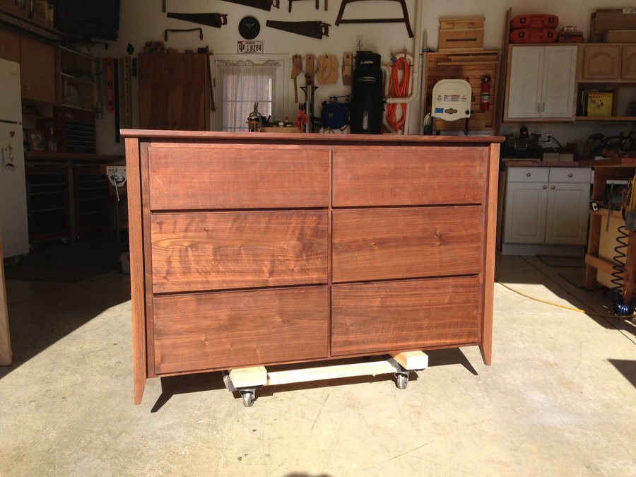 Picture of: Antique Walnut Finish Dresser