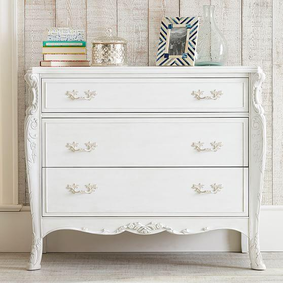 Picture of: Antique White Dresser Chest
