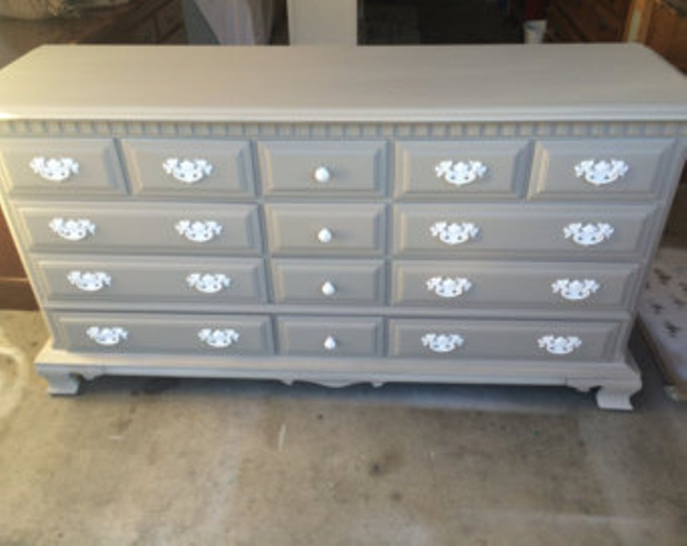 Image of: Badger Grey Changing Table Dresser