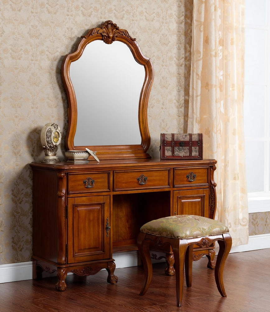 Picture of: Bedroom Vanity and Stool