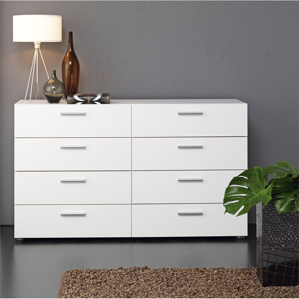 Picture of: Big Lots Dresser White with Lamps