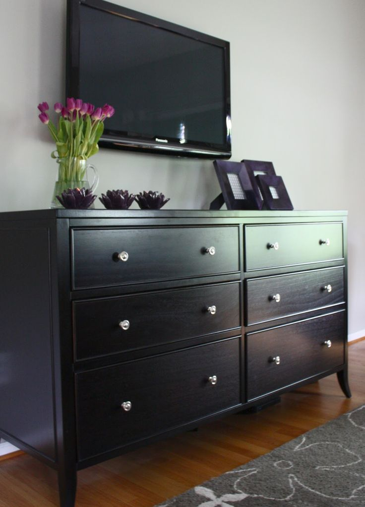 Picture of: Black 12 Inch Deep Dresser