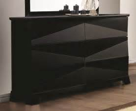 Picture of: Black 6 Drawer Modern Dresser
