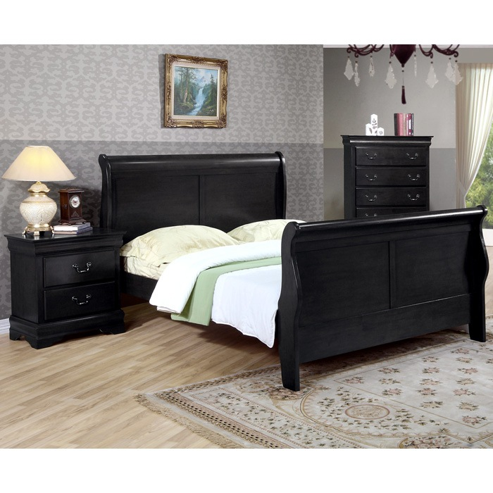 Picture of: Black Dresser and Bedside Table Set