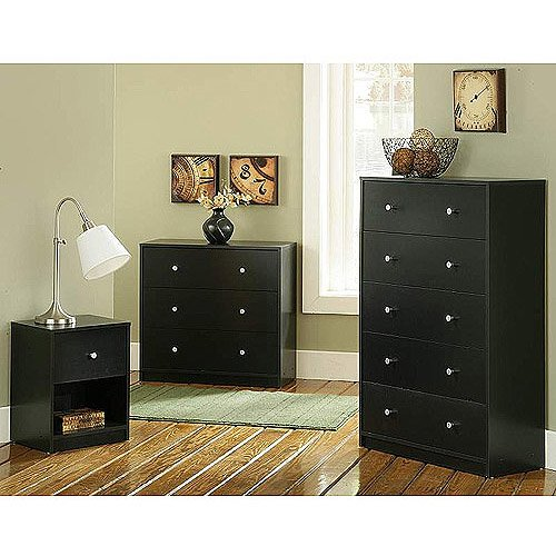 Picture of: Black Dresser and Nightstand Set Furniture