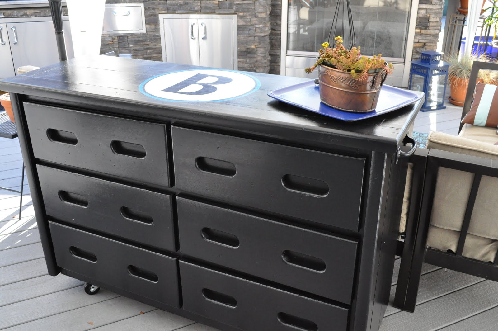 Picture of: Black Metal Rolling Dresser