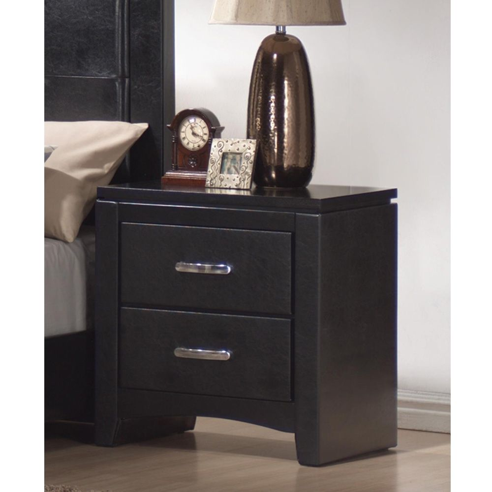 Picture of: Black Review Nightstand Set