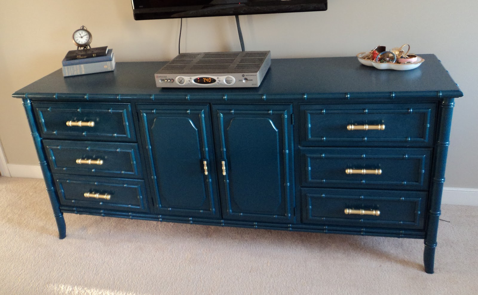 Picture of: Blue Bamboo Style Dresser