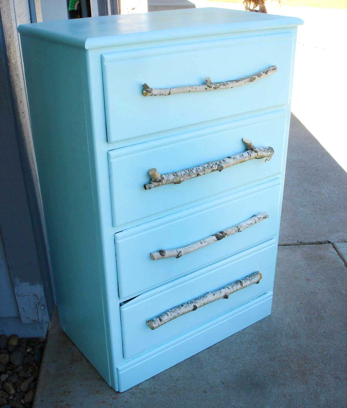 Picture of: Blue Rustic Kitchen Cabinet Knobs And Pulls