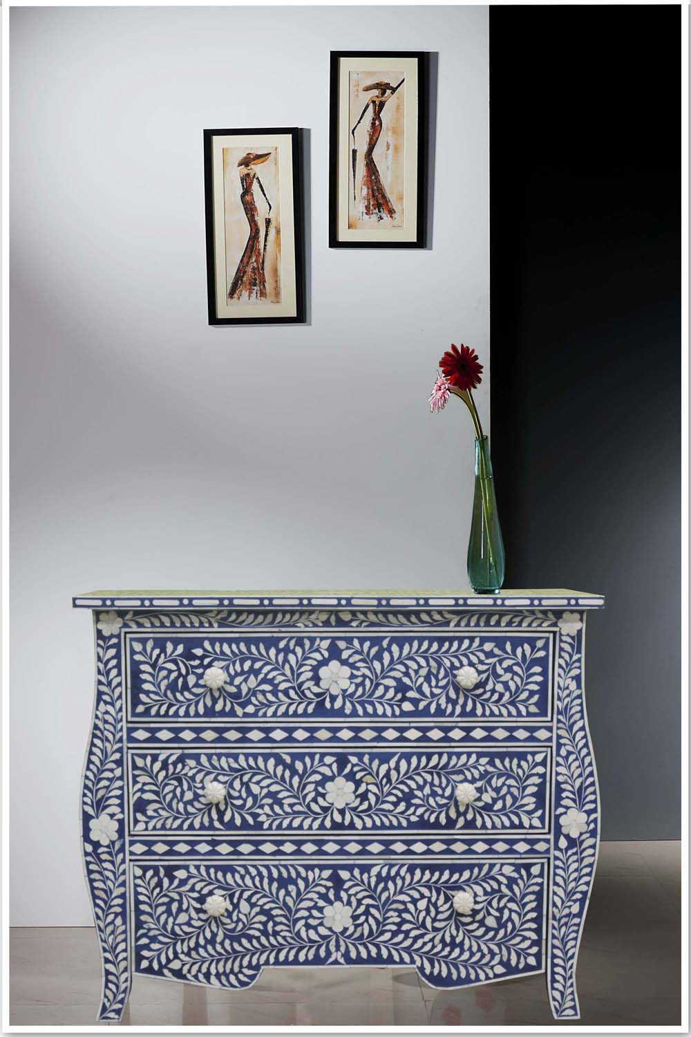 Picture of: Bone Inlay Side Table