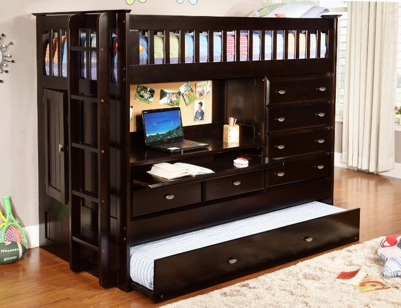 Picture of: Bookcase Bunk Bed