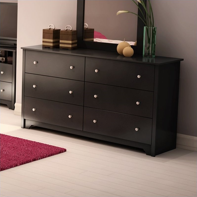 Picture of: Broadway Black 6 Drawer Dresser