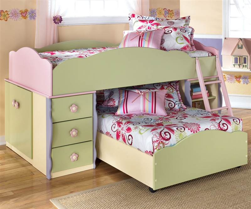 Picture of: Bunk Beds With Bookcase Headboards