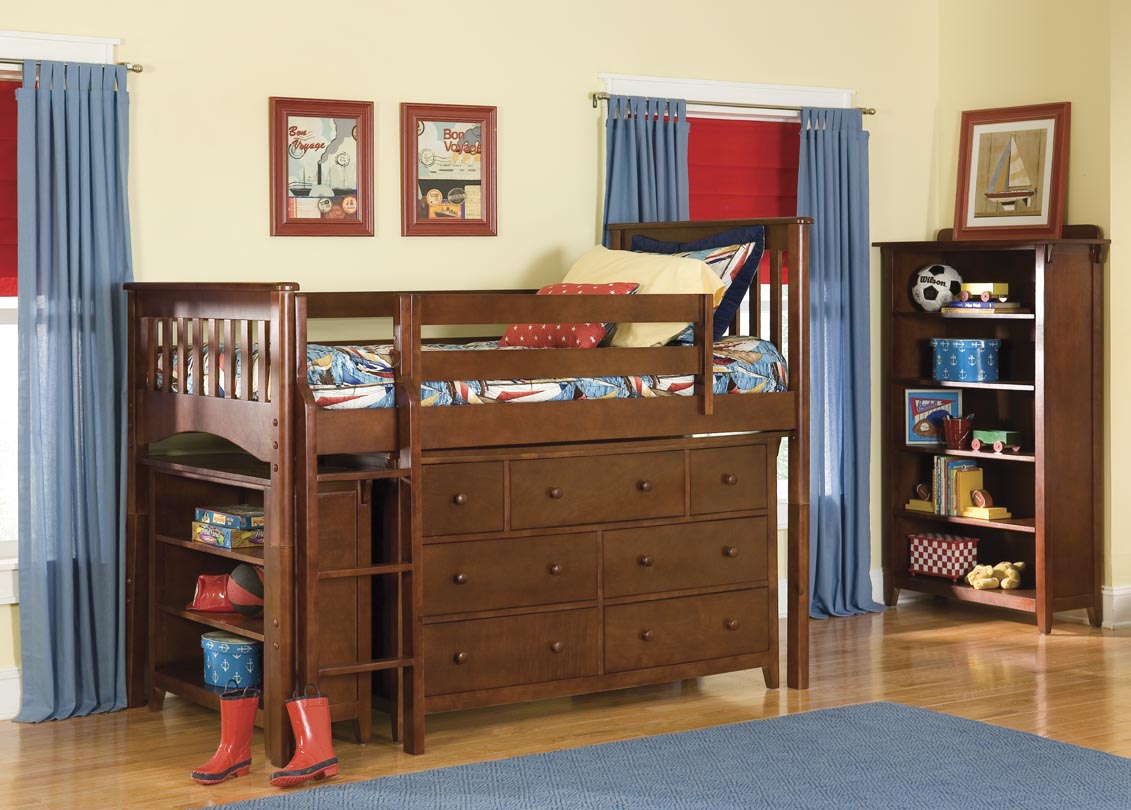 Picture of: Bunk Beds with Bookcase Headboards Style