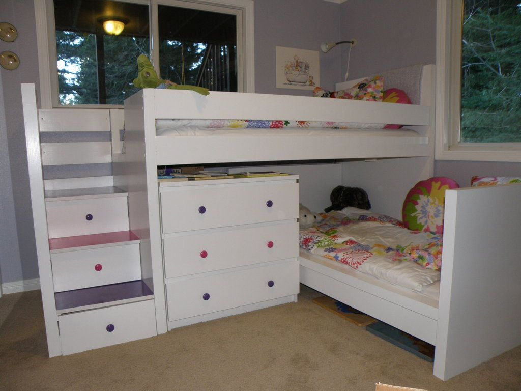 Picture of: Bunk Beds with Stairs and Drawers