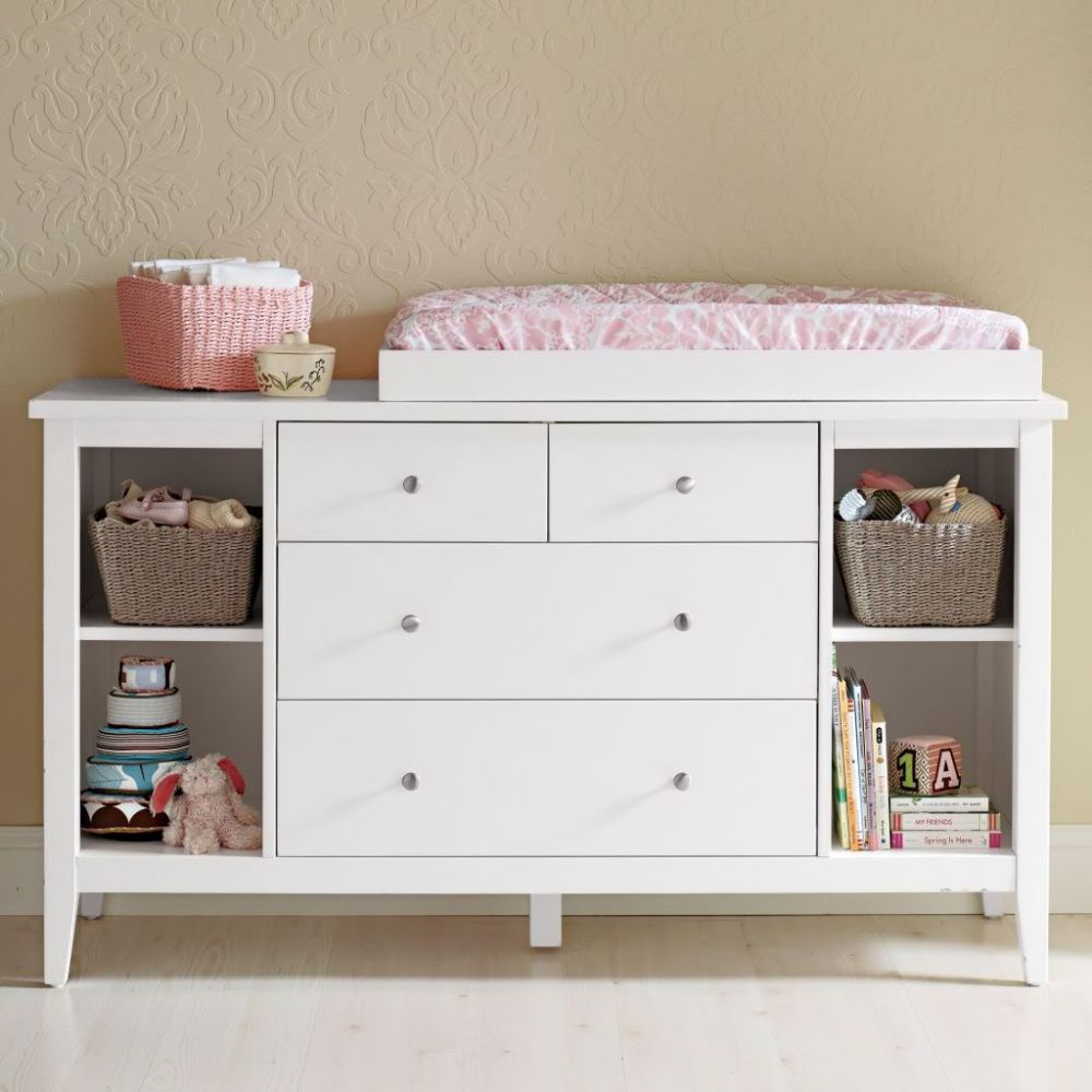 Changing Table White Storage