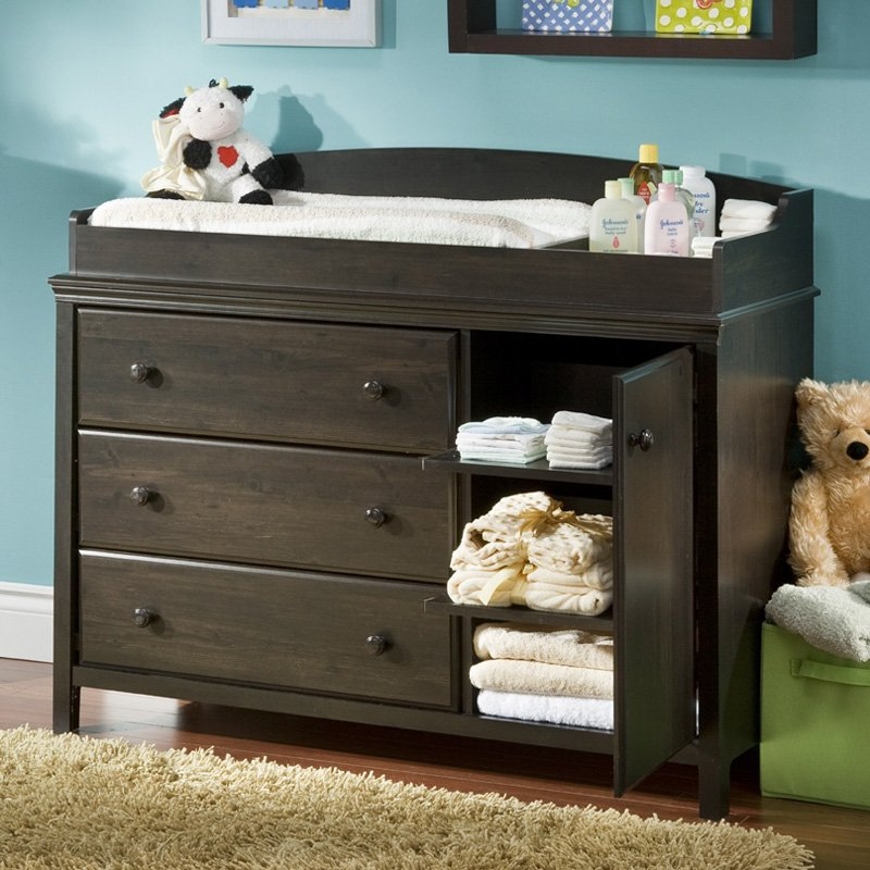 Picture of: Changing Table With Door