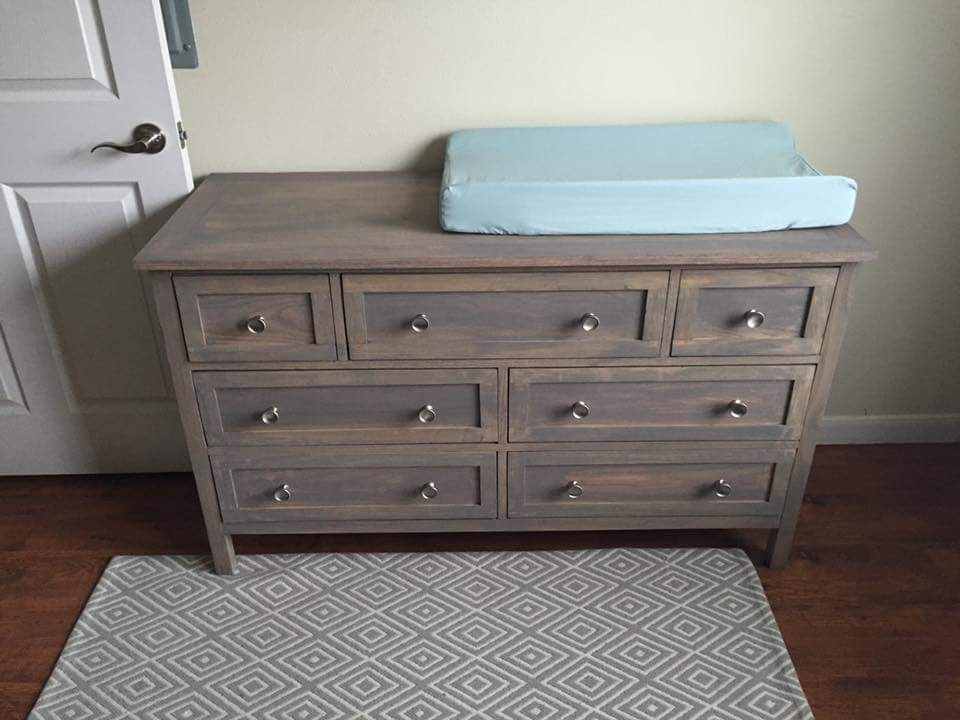 Picture of: Changing Table with Drawers Design
