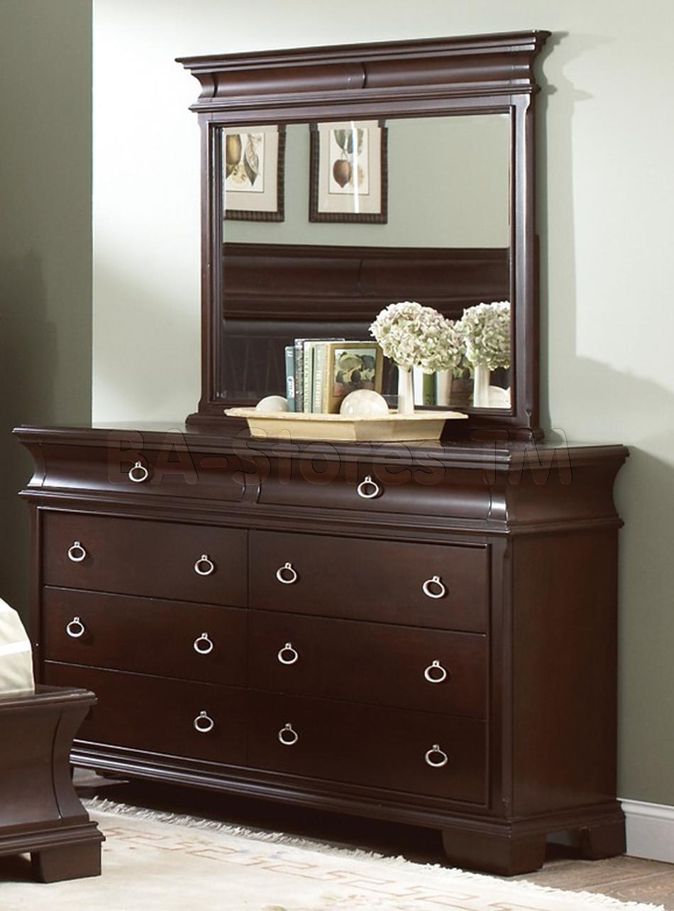 Picture of: Cherry Dresser With Mirror