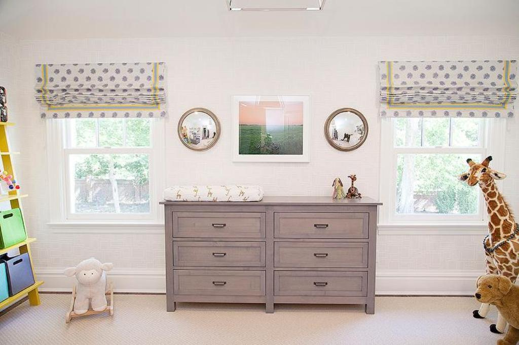 Image of: Cherry Grey Changing Table Dresser