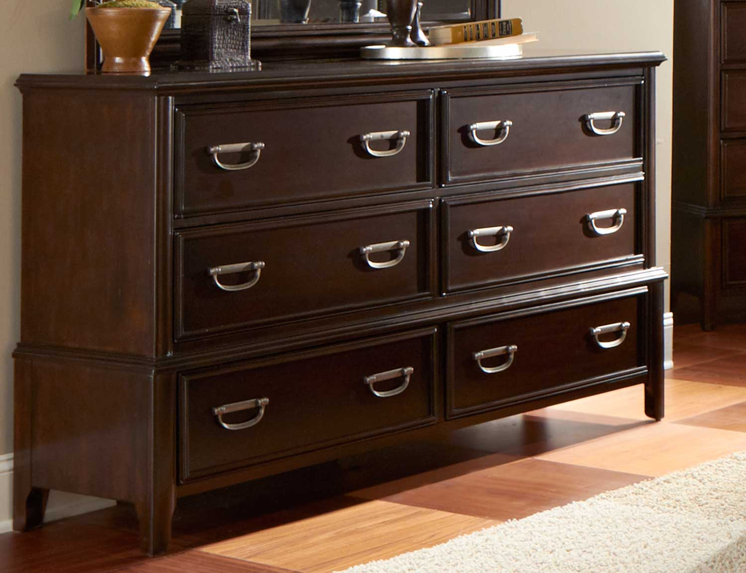 Picture of: Cherry Wood Baby Dresser