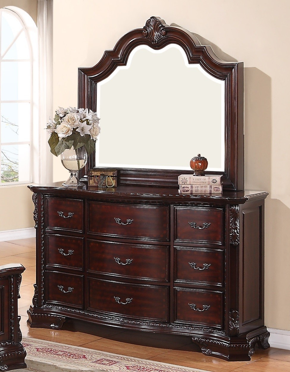 Picture of: Cherry Wood Dresser Walmart