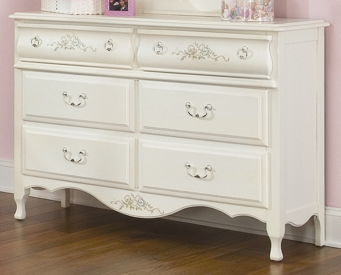 Picture of: Childrens White 4 Dresser With Mirror