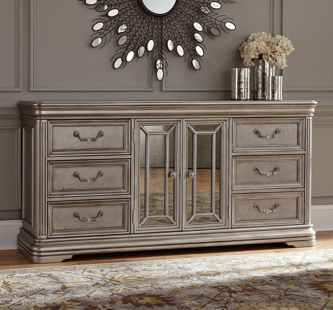 Picture of: Classy Mirrored Dresser