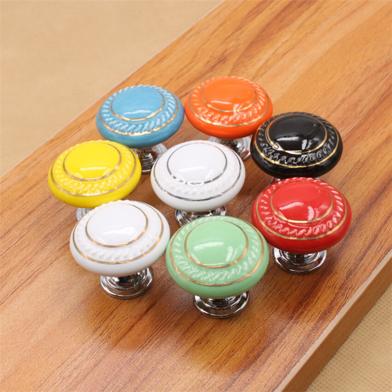 Colorful French Country Knobs