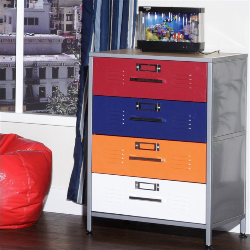 Picture of: Colorful Locker Dresser