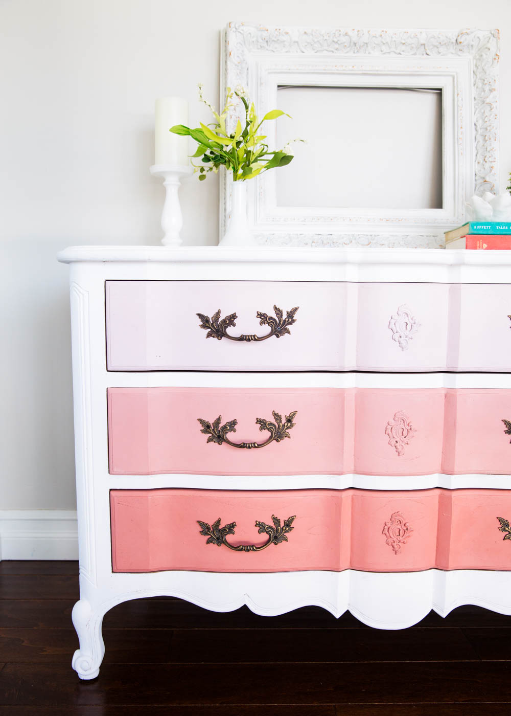 Coral Ombre Dresser