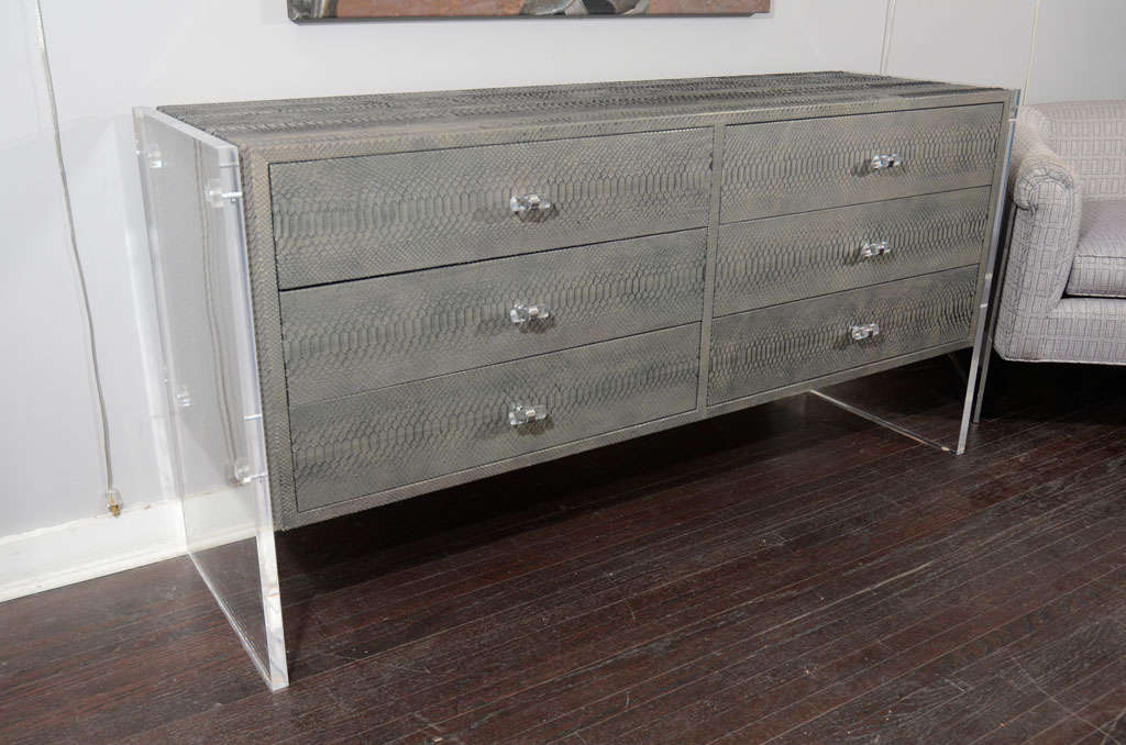 Custom Grey Metal Dressers