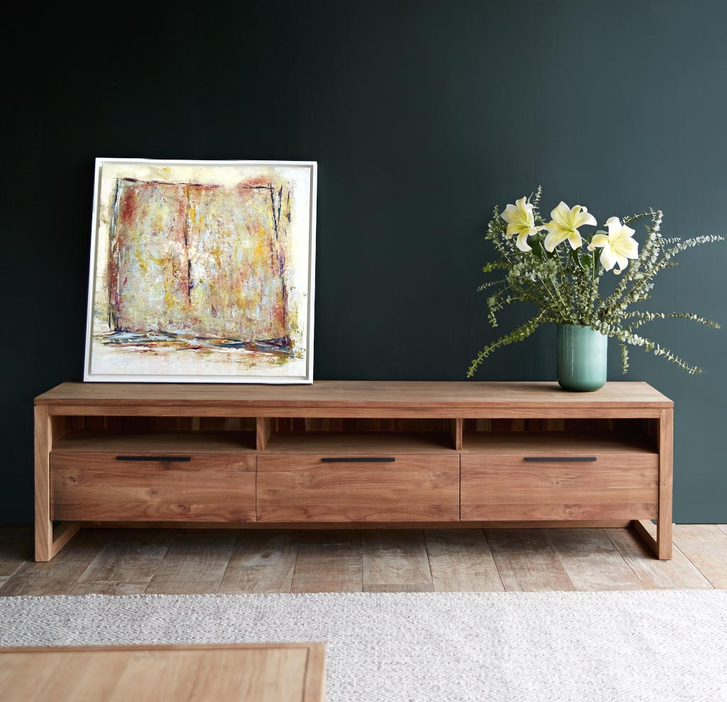 Image of: Danish Modern Chest with Flowers