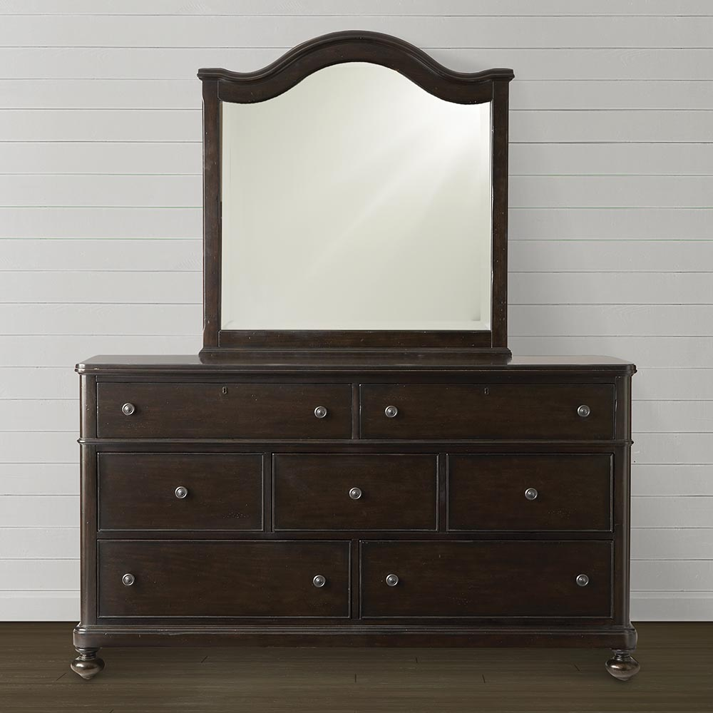 Picture of: Dark Brown Dresser With Mirror