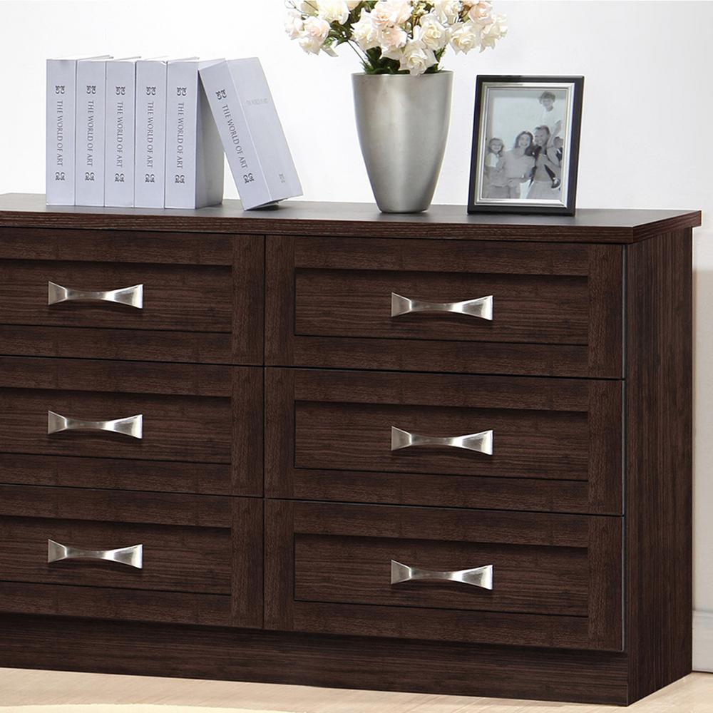 Picture of: Dark Brown Tall Dresser