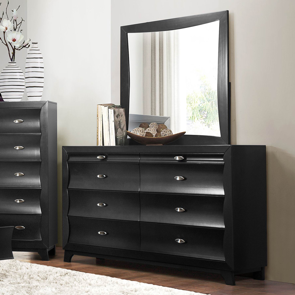 Delta 6 Drawer Dresser Black