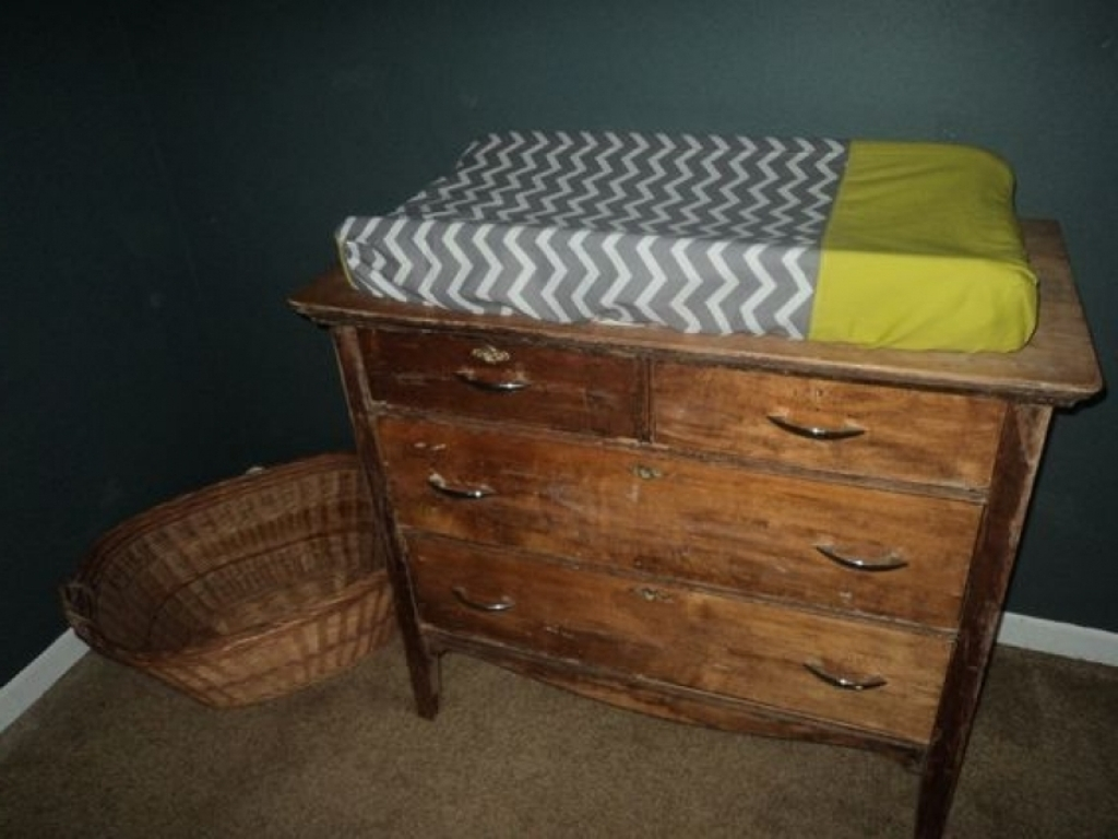 Image of: Delta Black Cherry Grey Changing Table Dresser