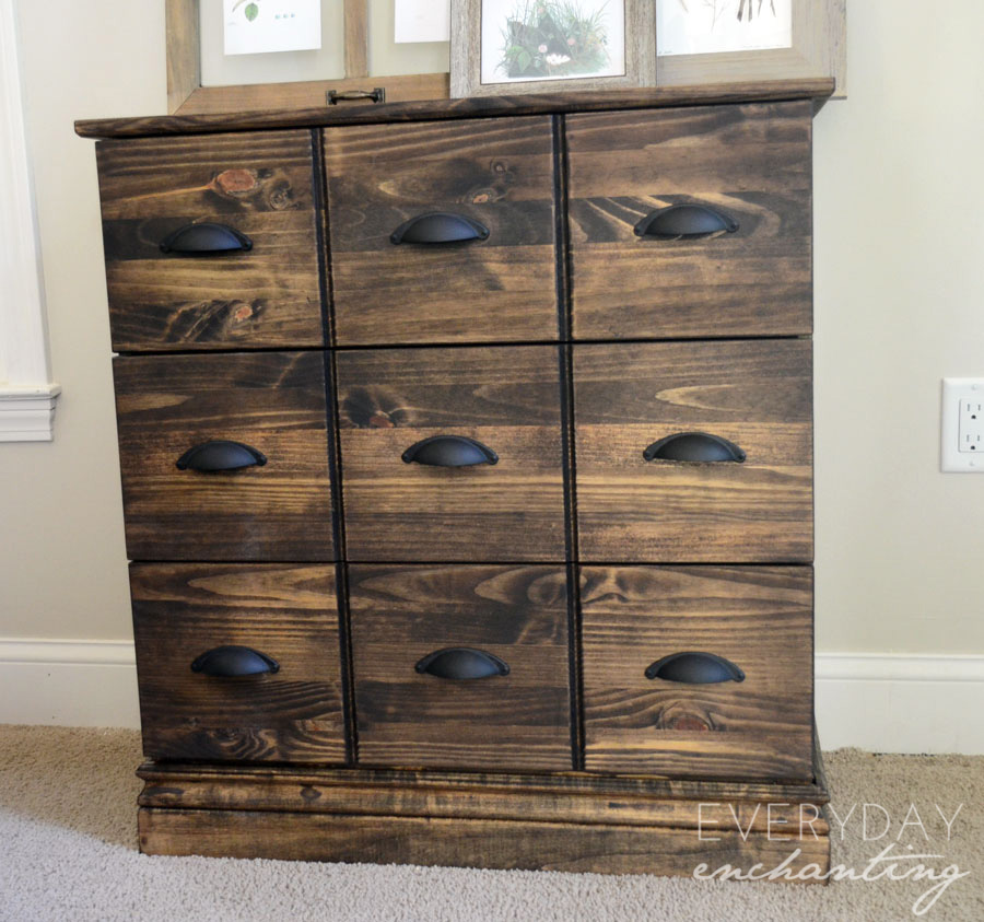 Image of: Desktop Apothecary Cabinet