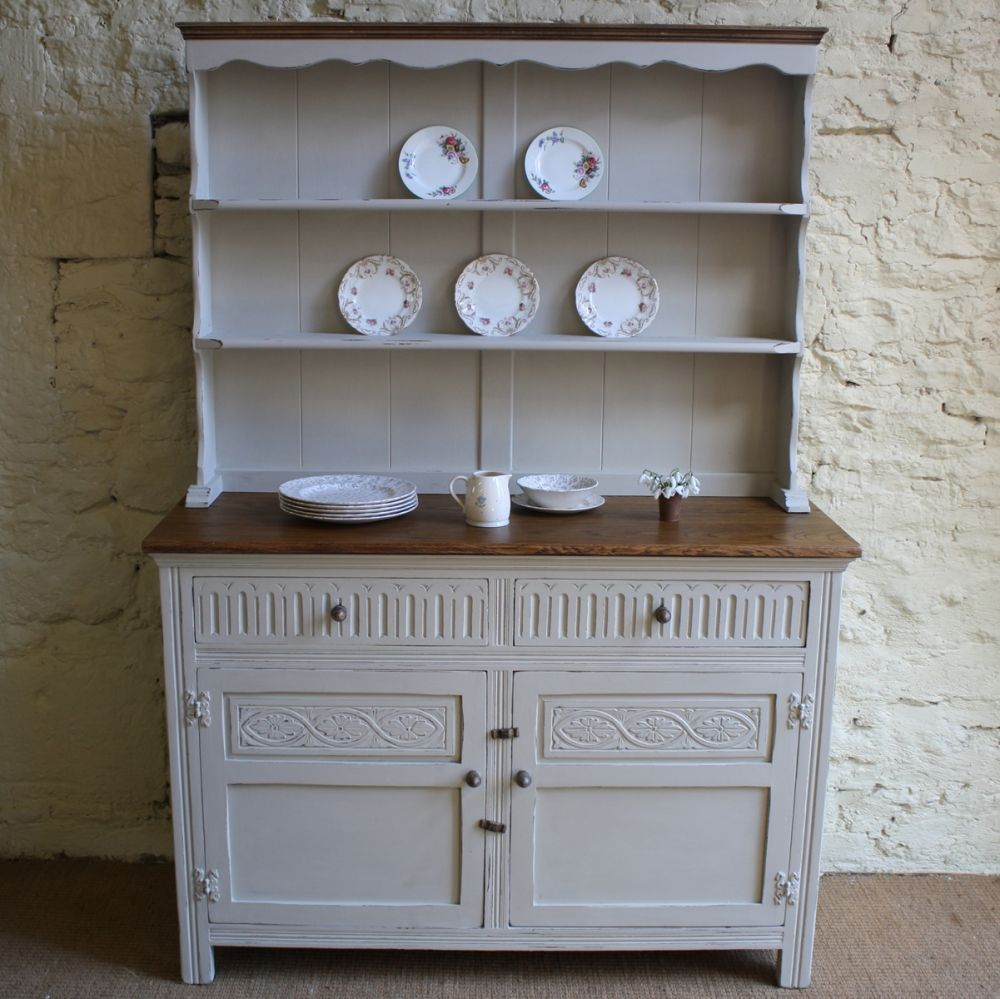 Picture of: Distressed Painted Furniture Kitchen