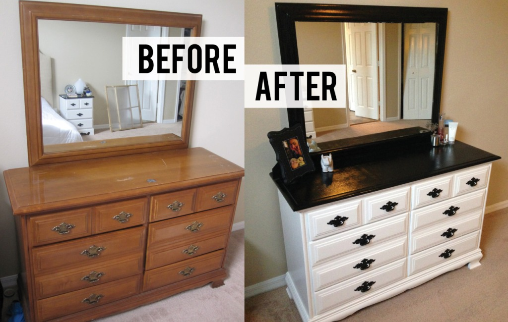 Picture of: Diy Dresser Makeover Before And After Style